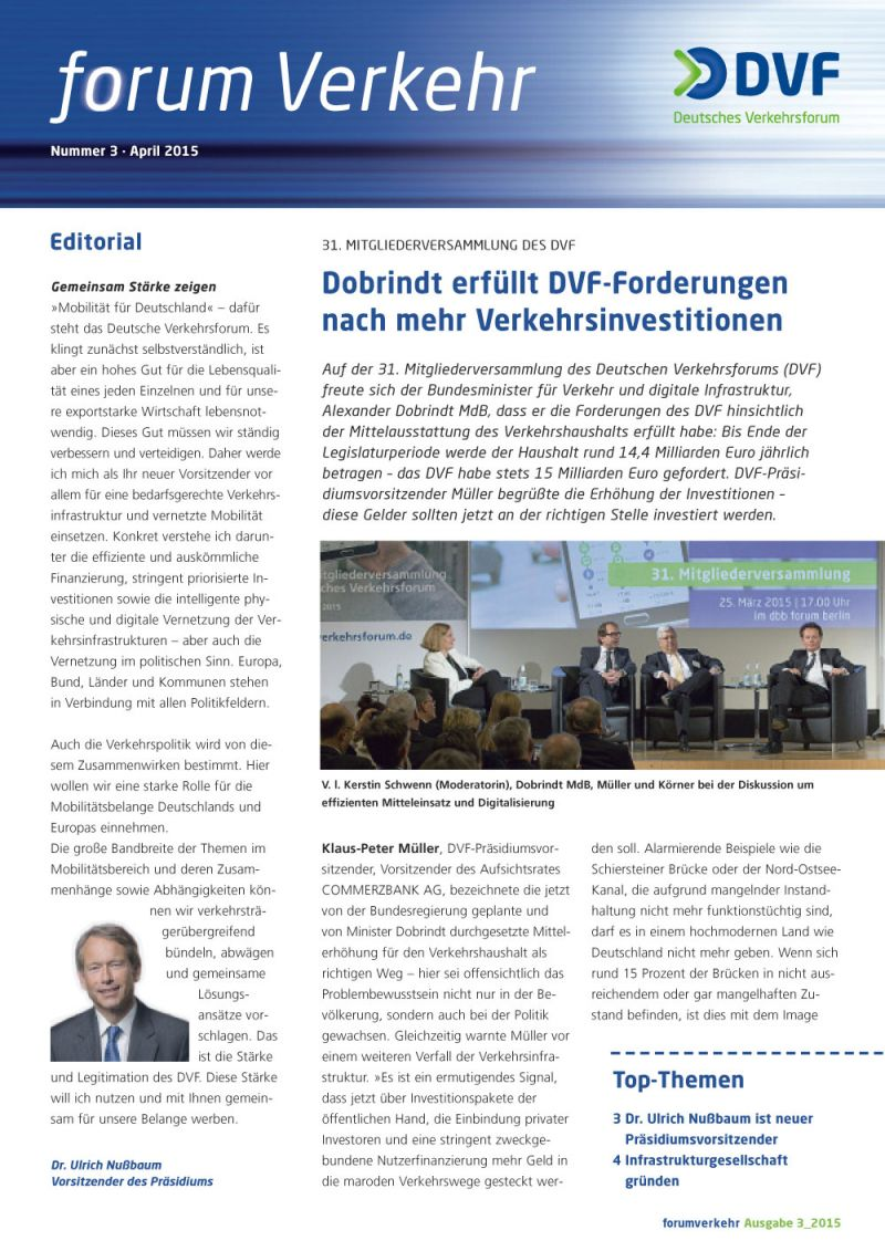 Newsletter Nr. 3 / April 2015